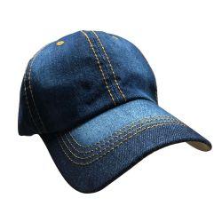 4 Units of Yacht & Smith 4 Pack 100% Cotton Denim Baseball Cap With Gold Stitching. - Baseball Caps & Snap Backs