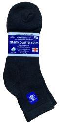 60 Units of Yacht & Smith Men's Loose Fit NoN-Binding Soft Cotton Diabetic Quarter Ankle Socks,size 10-13 Black - Men's Diabetic Socks