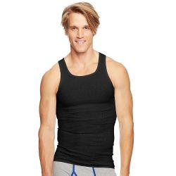 Hanes Classics Men's Black Tagless Comfortsoft Dyed A-Shirt 3-Pack Size 2 xl - Mens T-Shirts