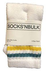 60 Units of Yacht & Smith Kids Cotton Usa Tube Socks, Referee Style Size 6-8 - Boys Crew Sock
