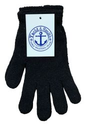 48 Units of Yacht & Smith Men's Winter Gloves, Magic Stretch Gloves In Assorted Solid Colors - Knitted Stretch Gloves