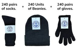 720 Units of Yacht & Smith Bundle Care Combo Pack, Wholesale Hats Glove, Socks (720, Mens) - Winter Care Sets