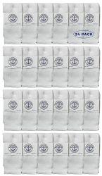 24 Units of Yacht & Smith Kids White Solid Tube Socks Size 4-6 - Boys Crew Sock