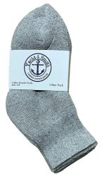 72 Units of Yacht & Smith Kids Cotton Quarter Ankle Socks In Gray Size 4-6 - Boys Ankle Sock