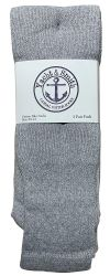 72 Units of Yacht & Smith Men's Cotton 28 Inch Tube Socks, Referee Style, Size 10-13 Solid Gray - Mens Tube Sock