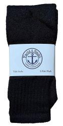 60 Units of Yacht & Smith 28 Inch Men's Long Tube Socks, Black Cotton Tube Socks Size 13-16 - Mens Tube Sock