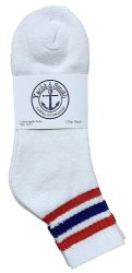 60 Units of Yacht & Smith Men's Cotton Sport Ankle Socks Size 10-13 With Stripes - Mens Ankle Sock
