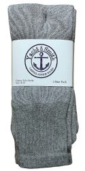 12 Units of Yacht & Smith Women's Cotton Tube Socks, Referee Style, Size 9-15 Solid Gray - Women's Tube Sock