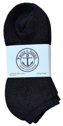 12 Units of Yacht & Smith Women's NO-Show Cotton Ankle Socks Size 9-11 Black - Womens Ankle Sock