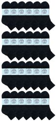 24 Units of Yacht & Smith Women's Cotton Ankle Socks Black Size 9-11 - Womens Ankle Sock