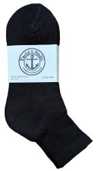 120 Units of Yacht & Smith Women's Cotton Ankle Socks Black Size 9-11 - Womens Ankle Sock