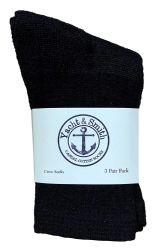72 of Yacht & Smith Kids Cotton Crew Socks Black Size 6-8