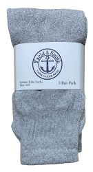 240 of Yacht & Smith Kids Solid Tube Socks Size 6-8 Gray