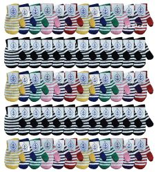 60 Units of Yacht & Smith Kids Striped Mitten With Stretch Cuff Ages 2-8 - Kids Winter Gloves