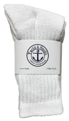 36 of Yacht & Smith Kids Cotton Crew Socks White Size 4-6