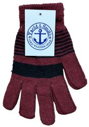 12 Units of Yacht & Smith Winter Magic Gloves Warm Brushed Interior, Stretchy Assorted Colors - Knitted Stretch Gloves