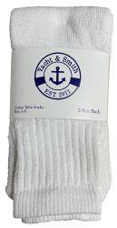 36 Units of Yacht & Smith Kids White Solid Tube Socks Size 4-6 - Boys Crew Sock