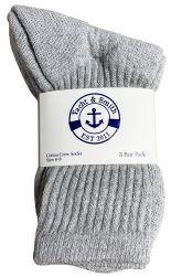 12 of Yacht & Smith Kids Cotton Crew Socks Gray Size 6-8