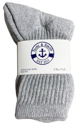 24 of Yacht & Smith Kids Cotton Crew Socks Gray Size 6-8