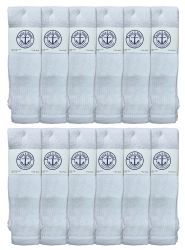 120 Units of Yacht & Smith Men's King Size 31 Inch Cotton Terry Cushioned Athletic Tube SockS- 13-16 Solid White - Big And Tall Mens Tube Socks