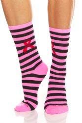60 Units of Yacht & Smith Pink Ribbon Breast Cancer Awareness Crew Socks For Women Bulk Pack - Breast Cancer Awareness Socks