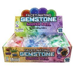 24 Wholesale Gemstone Squish Ball
