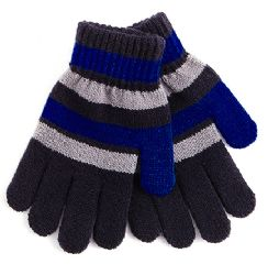 72 Units of Striped Knitted Gloves - Kids Winter Gloves