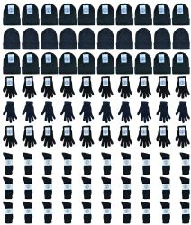 180 Units of Yacht & Smith Bundle Care Combo Pack, Wholesale Hats Glove, Socks 180pcs Womens - Winter Sets Scarves , Hats & Gloves