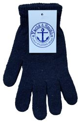 72 Units of Yacht & Smith Men's Winter Gloves, Magic Stretch Gloves In Assorted Solid Colors - Knitted Stretch Gloves