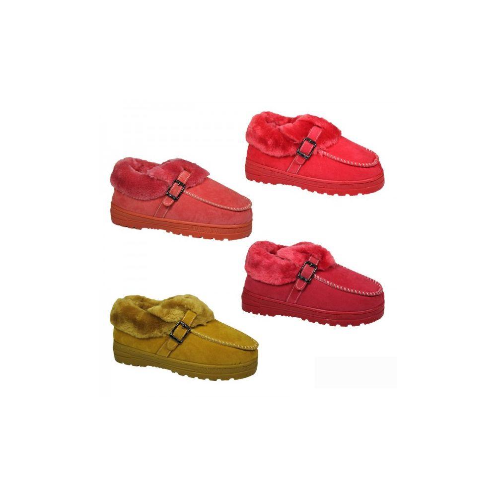 Wholesale Footwear Ladies Light Color Winter House Slipper