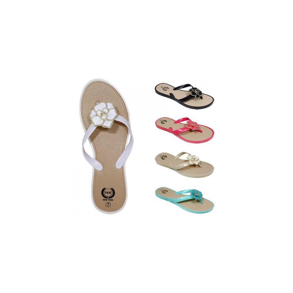 Wholesale Footwear Ladies Fashion Flip Flop With Flower