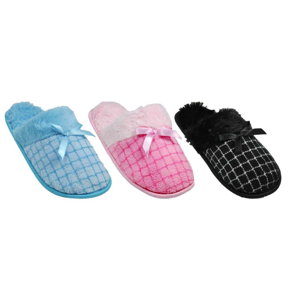 Wholesale Footwear Ladies House Slipper Assorted Colors