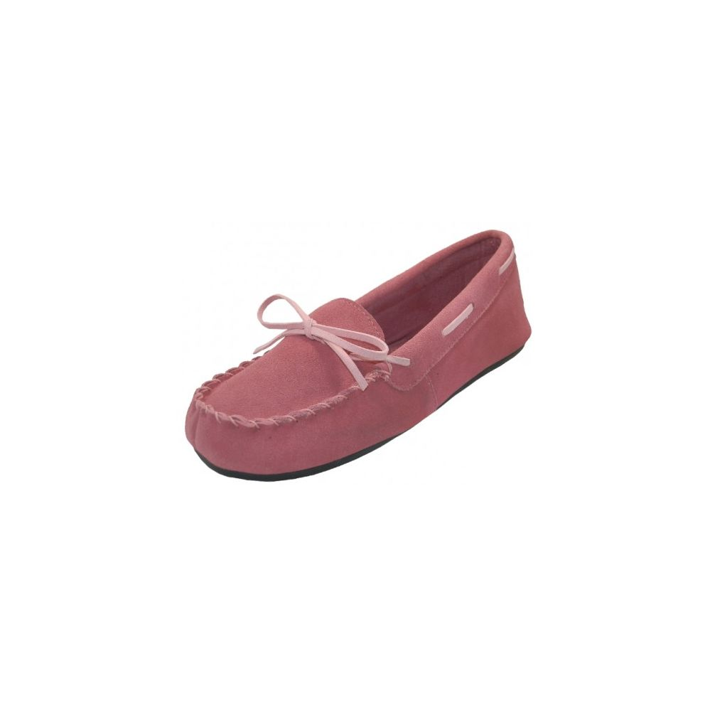 Wholesale Footwear Wholesale Women's Pink Leather Moccasins