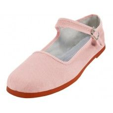 Wholesale Footwear Women's Classic Cotton Mary Jane Shoes ( Pink Color Only)