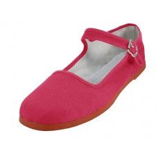 Wholesale Footwear Women's Classic Cotton Mary Jane Shoes (fuchsia Color Only)