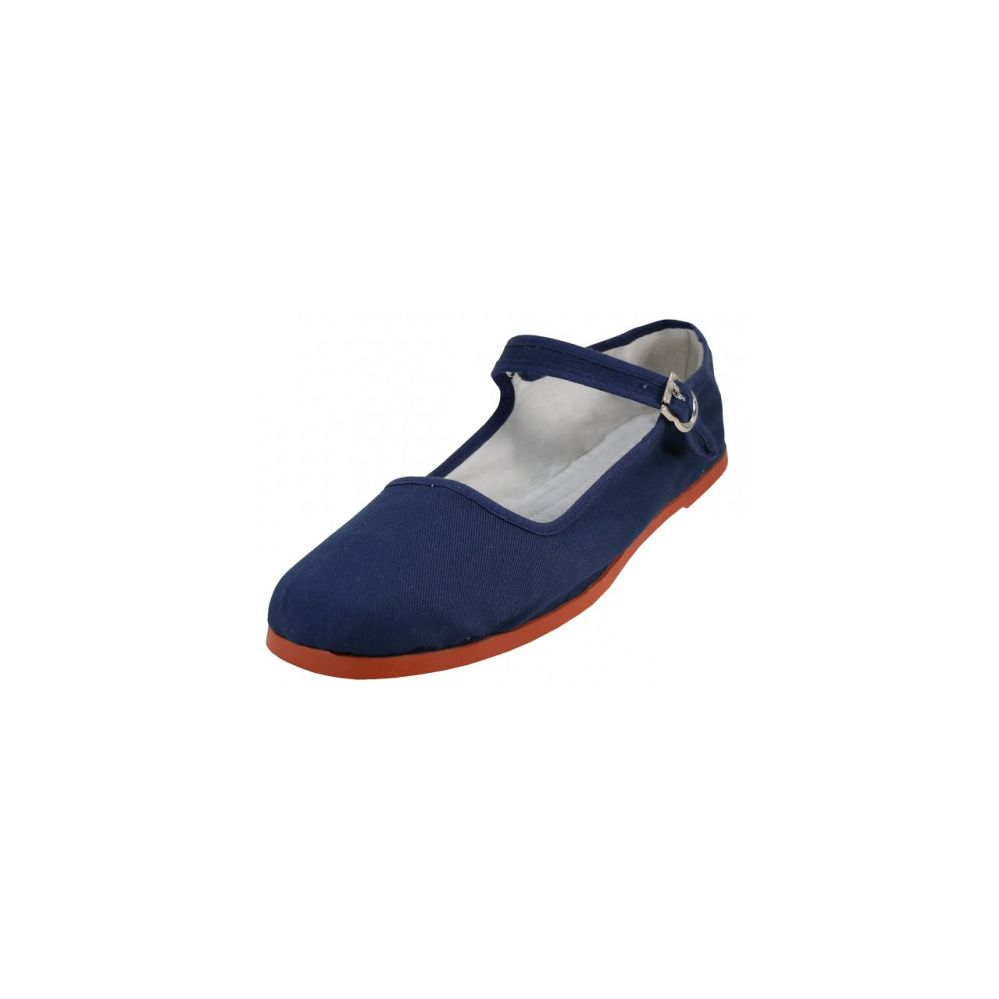 Wholesale Footwear Women's Canvas Classic Mary Janes Navy Color Only)