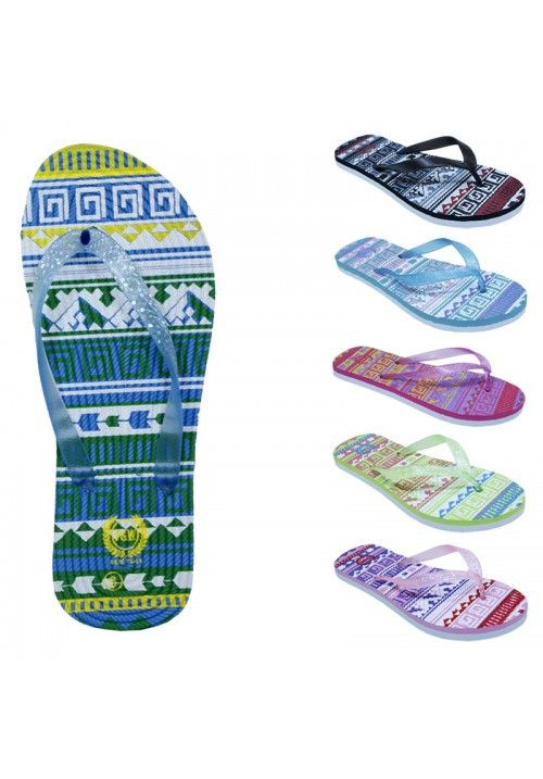 Wholesale Footwear Womens Fashion Sandals With A Glittery Strap And Weaved Base