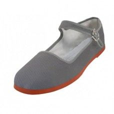 Wholesale Footwear Women's Classic Cotton Mary Jane Shoes (gray Color Only)
