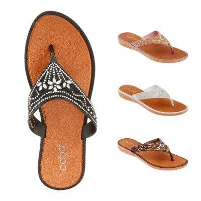 Wholesale Footwear Womens Rhinestone Flip Flop Assorted Color