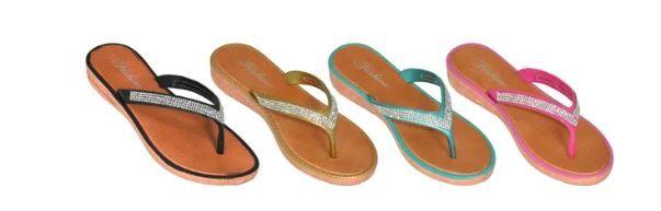 Wholesale Footwear Womens Rhinestone Flip Flop