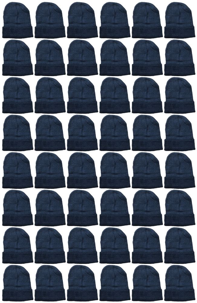 240 of Yacht & Smith Unisex Winter Warm Beanie Hats In Solid Black