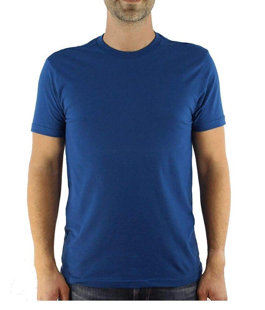 12 of Mens Cotton Crew Neck Short Sleeve T-Shirts Royal Blue, Large
