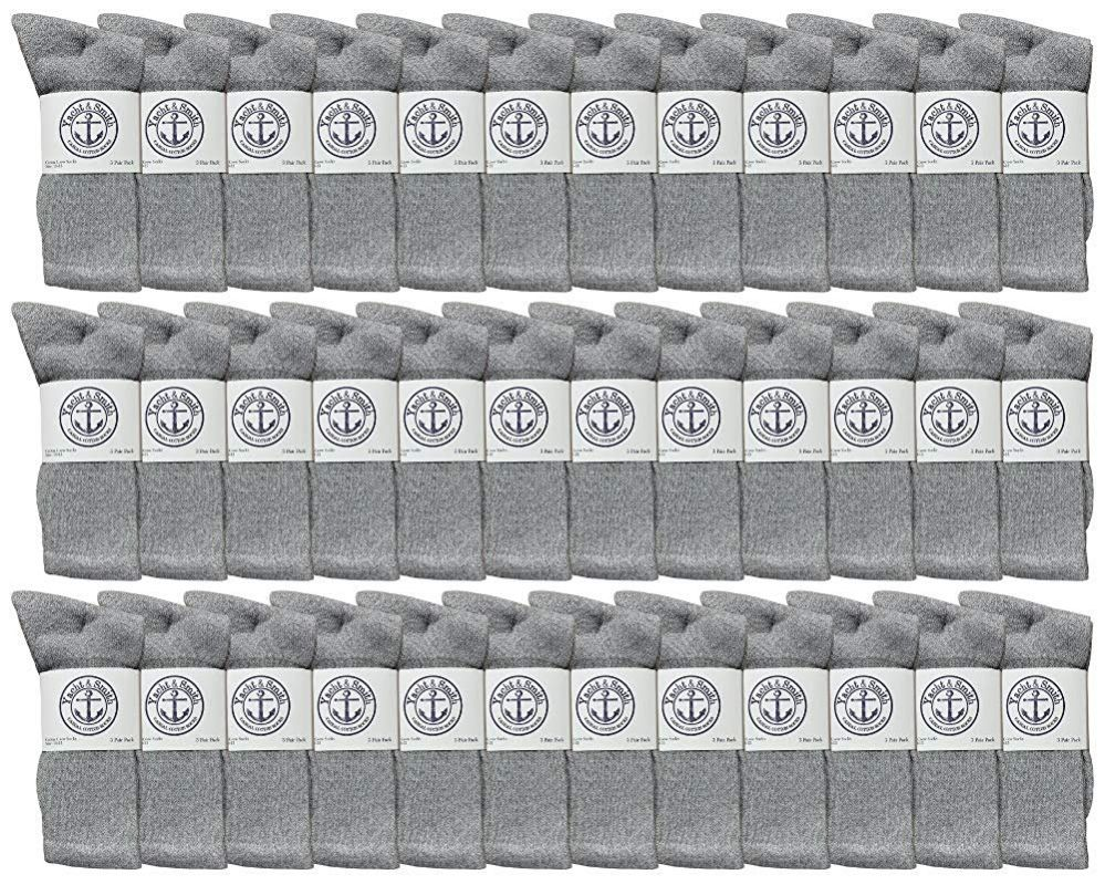 36 of Yacht & Smith Mens Wholesale Bulk Cotton Socks, Athletic Sport Socks Shoe Size 8-12 (gray, 36)