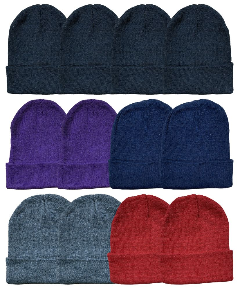 24 of Yacht & Smith Ladies Winter Toboggan Beanie Hats In Assorted Colors