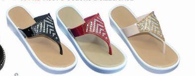 Wholesale Footwear Womens T Strap Elastic Platform Sandals Open Toe Bohemian Rhinestone Thong Flip Flops Sandal