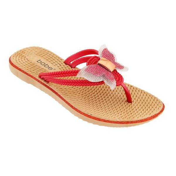 Wholesale Footwear Women's Butterfly Sandals In Red