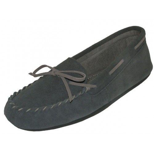 Wholesale Footwear Wholesale Women's Grey Leather Moccasins