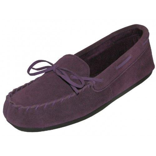 Wholesale Footwear Wholesale Women's Purple Leather Moccasins