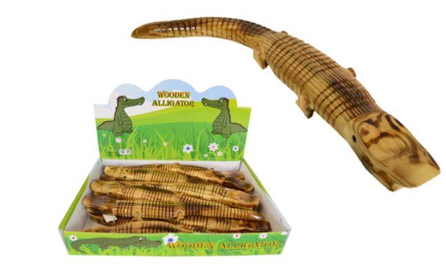 36 Wholesale Wooden Alligator 15 Inch