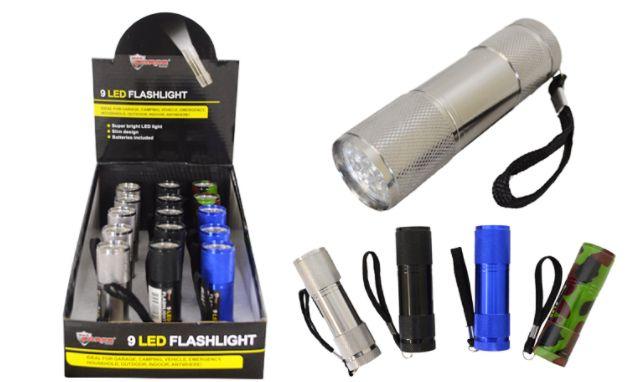 30 Bulk Promo LED Metal Flashlight